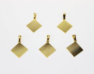ペンダント 貼り付け用 12mm角 (5ヶ入) ゴールド【ネコポス可】