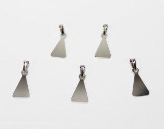 ペンダント 貼り付け用 三角 (5ヶ入) ロジウム【ネコポス可】