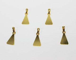 ペンダント 貼り付け用 三角 (5ヶ入) ゴールド【ネコポス可】
