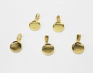 ペンダント 10mm丸皿 (5ヶ入) ゴールド【ネコポス可】