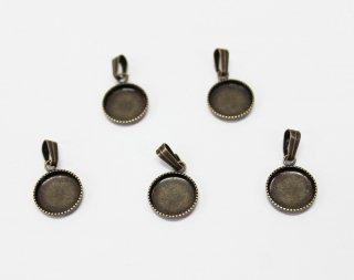 ペンダント 10mm丸皿 (5ヶ入) 真鍮古美【ネコポス可】