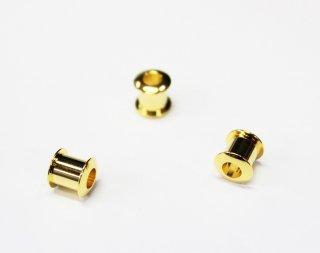 樹脂粘土用 キャップパーツ 小 ロンデル台座 (3ヶ入) ゴールド【ネコポス可】