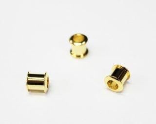 樹脂粘土用 キャップパーツ 大 ロンデル台座 (3ヶ入) ゴールド【ネコポス可】