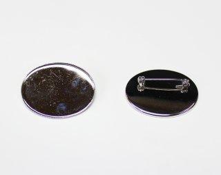 ブローチ 皿 30×40mm 横 (5ヶ入) ロジウム【ネコポス可】
