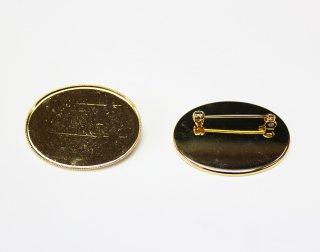 ブローチ 皿 30×40mm 横 (5ヶ入) ゴールド【ネコポス可】