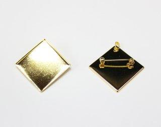 ペンダントブローチ 角皿 30mm (5ヶ入) ゴールド【ネコポス可】
