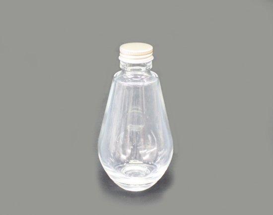 ハーバリウム用細口ガラス瓶 雫型(ネジ栓付)