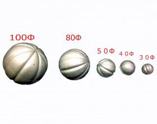 スチロール球、木目込み<br/>サイズ100mm1個