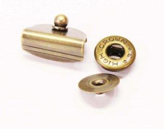 M185<br />飾りホック アンティークゴールド