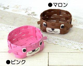 H360−233−2<br/>どうぶつかご(犬)<br/>ピンク