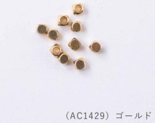 AC1429<br/>ハイクォリティメタルビーズ<br/>4mm ゴールド【ネコポス可】