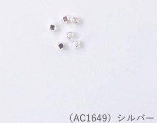 AC1649<br/>メタルビーズ<br>多面2mm シルバー【ネコポス可】