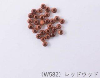W582<br/>ナチュラルウッドビーズ<br/>丸玉6mm レッドウッド【ネコポス可】