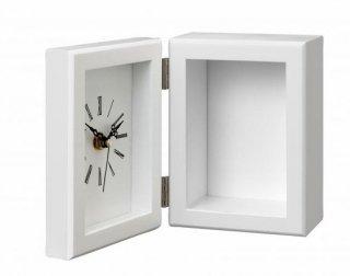ミレニアムアート<br>ML915—01<br />NEWプリ時計フレームMDF(木製)<br />Sサイズ ホワイト
