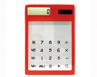 クリアリウム  電卓 レッド