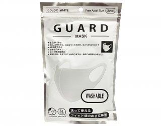 GURD MASK<br>ガードマスク(3枚入り)<br>ホワイト【ネコポス可】