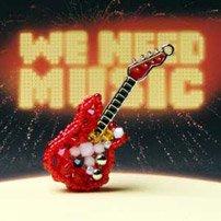 エレキギター(赤)【ネコポス可】