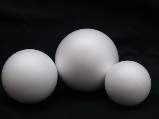 スチロール球 ・ 素ボール サイズ30mm (50個入)