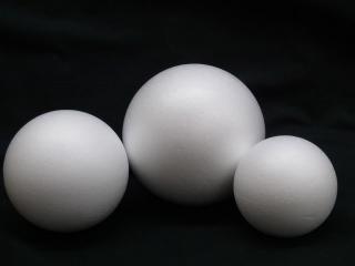 スチロール球・素ボール<br/>サイズ80mm(5個入)