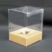 プリザーブドフラワーケース(小)台紙アンバー