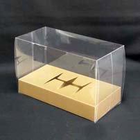 プリザーブドフラワーケース横長(小)台紙アンバー
