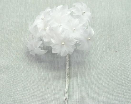 R 小花 ホワイト