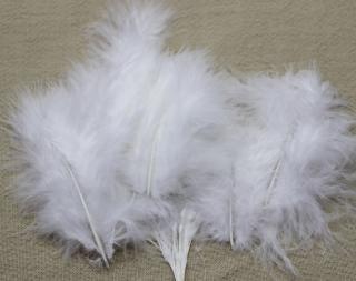 ファンシーフェザー No.95 七面鳥 マラボー小 ホワイト【ネコポス可】