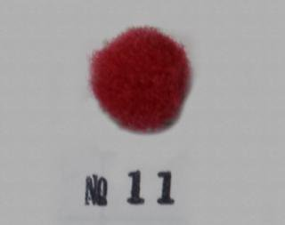 ポリエステル凡天 10mm No11(赤)<br/>ボン天、ぼん天