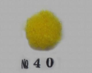 ポリエステル凡天 10mm No40 (黄色)<br/>ボン天、ぼん天