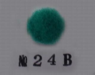 ポリエステル凡天 10mm No24B(緑)<br/>ボン天、ぼん天