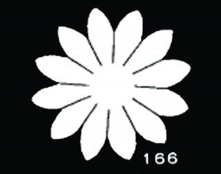 TM166<br />マーガレット 中 サテン【ネコポス可】