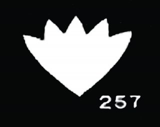 TM257 花がく No7<br />すみれがく サテン【ネコポス可】
