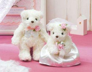 天使のホワイトベア ピンク