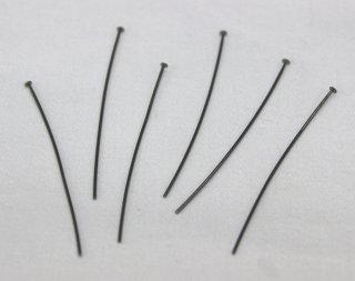 Tピン 0.7×45mm (10g/約64本入) ブラック【ネコポス可】