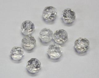 天然石 カット 6mm<br />通し穴 水晶【ネコポス可】