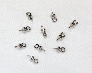 針ヒートン 3×7 (10ヶ入) ロジウム【ネコポス可】