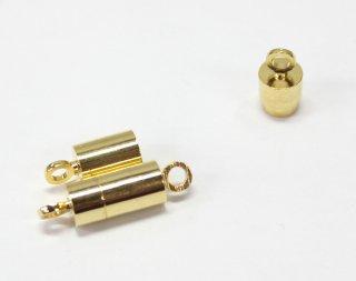 マグネットクラスプ 6×12mm (2ヶ入) ゴールド【ネコポス可】