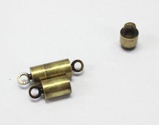 マグネットクラスプ 6×12mm (2ヶ入) 真鍮古美【ネコポス可】