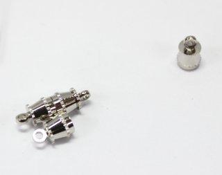 マグネットクラスプ (2ヶ入) ロジウム【ネコポス可】