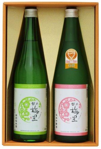 2019年ワイングラスでおいしい日本酒アワード金賞受賞 飲み比べ2本セット(化粧箱入り)特純,純吟