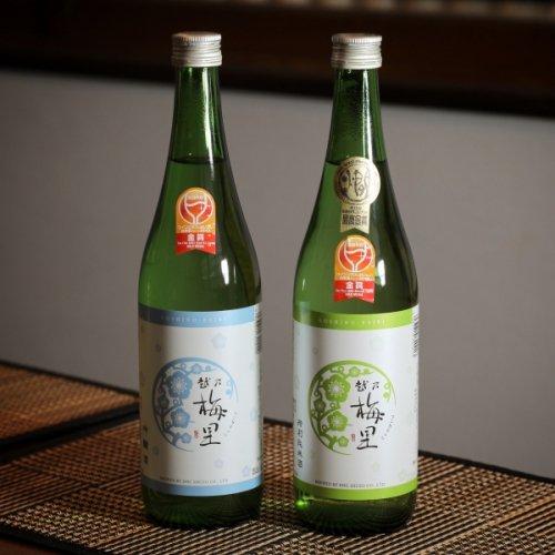 2019年ワイングラスでおいしい日本酒アワード金賞受賞 越乃梅里飲み比べ2本セット(化粧箱入り)特純,吟醸