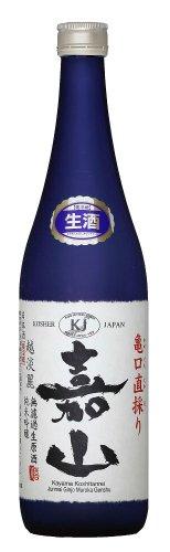 【限定ボトル】嘉山(かやま) 亀口直採り 純米吟醸 無濾過生原酒 720ml  ブルーフロスト瓶 【クール便】