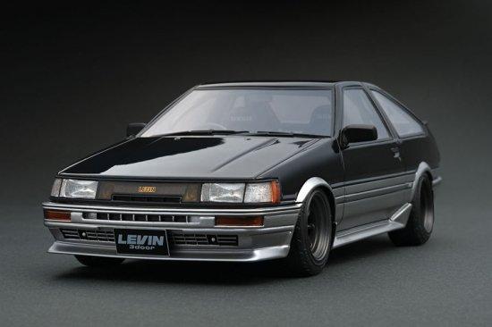 IG0546 1/18 Toyota Corolla Levin (AE86) 3 Door GT Apex 黒/銀 ig model