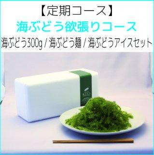 【定期】海ぶどう欲張りコース 海ぶどう300g / 海ぶどう麺 / 海ぶどうアイスセット