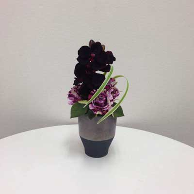 豊麗な蘭のアートフラワー(造花)