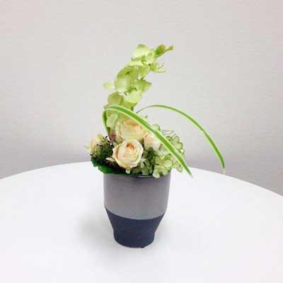 爽やかな胡蝶蘭のアートフラワー(造花)