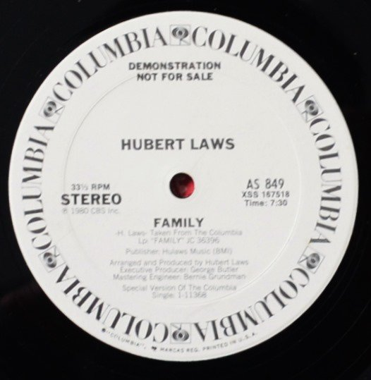 HUBERT LAWS / FAMILY (US ORIGINAL PROMO) (12