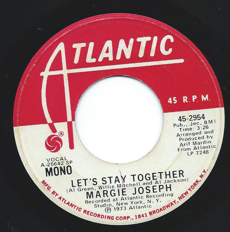 MARGIE JOSEPH / LET'S STAY TOGETHER (7