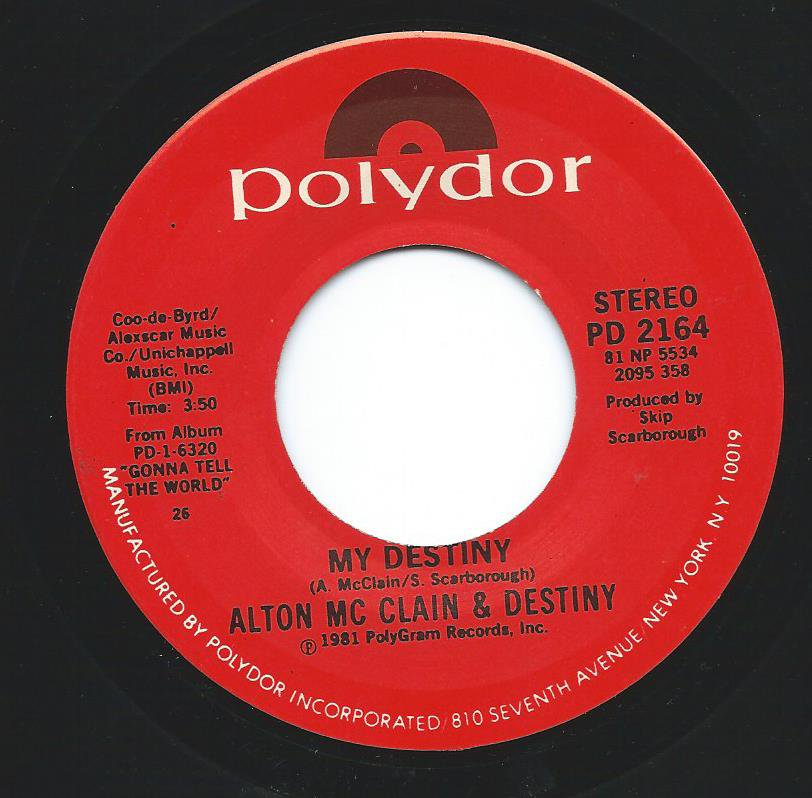 ALTON MCCLAIN & DESTINY / MY DESTINY / WE'RE GONNA MAKE IT (7