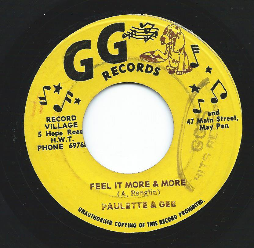 PAULETTE & GEE / WINSTON WRIGHT / FEEL IT MORE & MORE / IT'S BEEN A LONG TIME (7